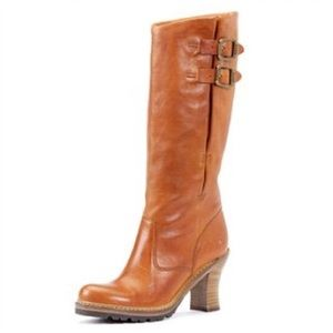 Frye | Mildred English Pull-On Cognac Heeled Boots